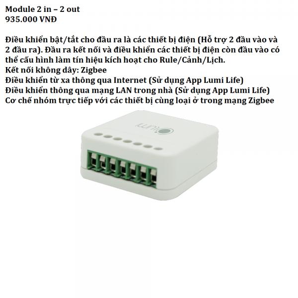 Module 2in2out Nhà thông minh Miền Bắc